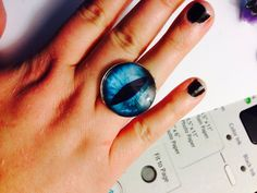 Ready to Ship Turquoise Dragon Eye Ring by ArsenicaAccoutrement, $5.00