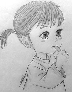 Disney Drawings Sketches, Girl Drawing Sketches, Art Drawings Sketches Simple, Cartoon Drawings, Simple Pencil Drawings, Disney Pencil Drawings, Pencil Sketches Of Girls, Drawing Drawing, Creative Sketches
