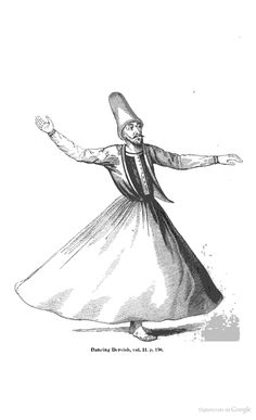 Looks like something from my Quinn's Clip Art book... Dancing Dervish. From Notes of a wanderer, in search of health, through Italy, Egypt, Greece, Turkey, up the Danube and down the Rhine, 1839