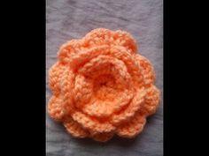 6 patrones de flores al crochet + video con paso a paso | Todo crochet