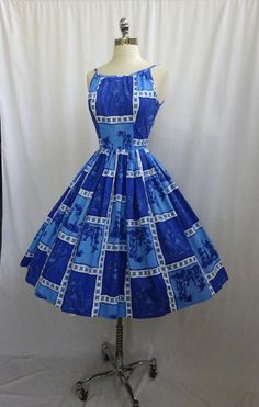 1950's Asian Print Dress