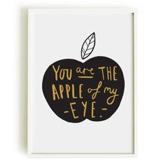 Apple Of My Eye Print A4 Print by OldEnglishCo on Etsy, £15.00 In light green? or a different color?