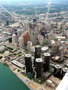 Aerial View of Detroit, Michigan - I wonder which one is Ryan's office?