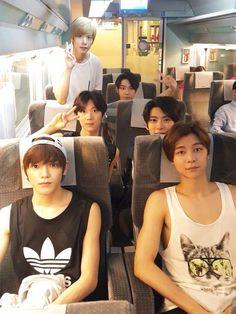 Back to front : Hansol, Doyoung, Ten, Jaehyun, Taeyong, Johnny