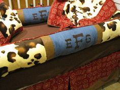 Items similar to Custom Crib Bedding set Cowboy style for Boys ask about other fabric options on Etsy Baby Boy Nursey, Baby Boy Bedding, Baby Boy Nurseries, Baby Baby, Western Crib, Western Babies, Crib Sets, Crib Bedding Sets, New Baby Wishes