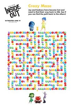 FREE Pixar Inside Out Printable Coloring Pages + Activities | Get your kids ready for Pixar Inside Out w/ these free printables, coloring pages, activities