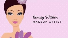 Cute and Girly Lavender Woman Illustration Makeup Artist Business Cards http://www.zazzle.com/makeup_artist_beautician_business_card-240962893221977973?rf=238835258815790439&tc=GBCCosmetology2Pin