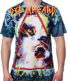f195b9e49ec Hysteria Def Leppard Sublimation T-Shirt - Band T-Shirt Band Tees