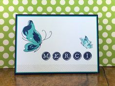 Another MERCI card. This thime I used the butterflies from Altenew and the alphabet-set from Clearly Besotted
