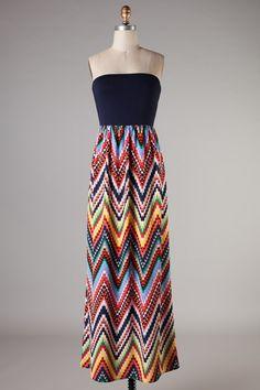 Newbury Chevron Maxi Dress
