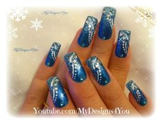 Winter Nail Art | New Year`s Nails | Blue Winter Nails