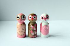 Owl Always Love You Peg Doll by CraftThatParty on Etsy, $10.00