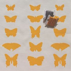 butterflies - screenprinted fabric panel, yellow on white linen-cotton or linen Panel Quilts, Beautiful Textures, Butterfly Wings, Fabric Panels, Natural Linen, Summer Days, White Cotton, Screen Printing, Butterflies
