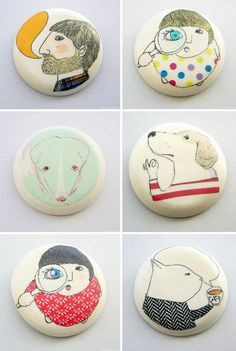 Today I want to introduce you Nadia, an Italian artist that creates these little handmade porcelain jewelry and objects under the name of Atelier Gilet. (via Imaginativebloom.com)