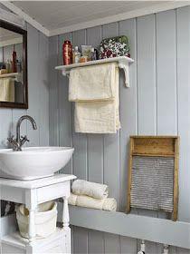 Lyst og lett, men koselig hyttepreg – Happy Homes Norge Summer House Interiors, Scandinavian Living, Take Me Home, Cottage Style, Cabin, Bathroom, Design, Happy, Vintage