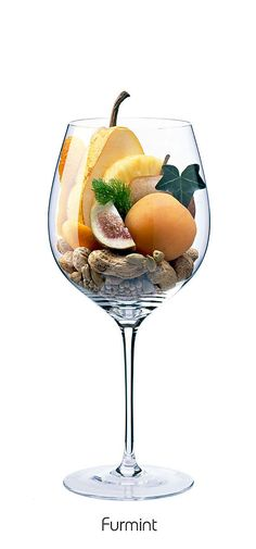 FURMINT  Pineapple, apple, apricot, pear, peanut, dried fig, kumquat, orange peel, ivy, fennel, cardamom, white pepper
