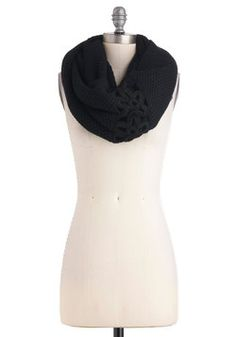 A Shortcut Above Scarf in Black, #ModCloth