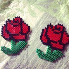Rosas con el juego hama