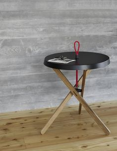 Buy online Marionet By mox, round steel and wood coffee table design Simon Busse Small Tables, End Tables, Dinner Table, A Table, Into The Woods, Busse, Coffee Table Design, Wood Art, Steel