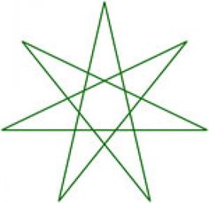 Image of the Elven Star- People sometimes wear it as an amulet to keep people from reading their mind. You could also use it on a book of spells to keep people from understanding, or knowing the true nature of the contents. The seven pointed star is a magical symbol, and the 7 points have many secret meanings, such as the 7 days of the week, the 7 pillars of wisdom, the 7 wonders of the world, or in Las Vegas with the 777 jackpot. Believe me, this is no coincidence.
