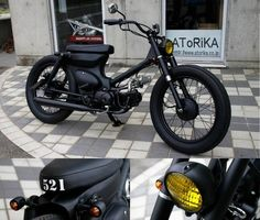 To know more about GARAGE 521 Black Cat, visit Sumally, a social network that gathers together all the wanted things in the world! Honda Motorbikes, Honda Scooters, Custom Motorcycles, Custom Bikes, Electric Bikes For Sale, Vespa, Cb 500, Scooter Custom, Moped Scooter