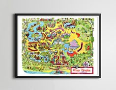 Disney World Parks, Disney Worlds, Maps Posters, Vintage Disney, Old Disney