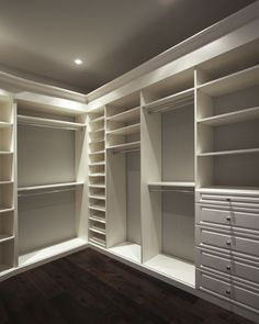 So simple- and yet underappreciated- can be an afterthought when planning a closet, pantry, mudroom, or laundry room for your home. Take a moment to browse our sample closet photos and configurations, and you'll notice Victory Clo Master Closet Design, Walk In Closet Design, Master Bedroom Closet, Closet Designs, Master Closet Layout, Custom Closet Design, Master Bath, Master Bedrooms, Bedroom Bed