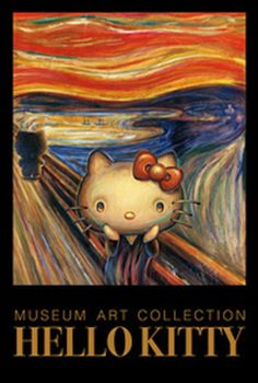 Screaming Hello  Kitty-chan goes artsy in unusual merchandise venture    The Scream Edvard Munch Parody