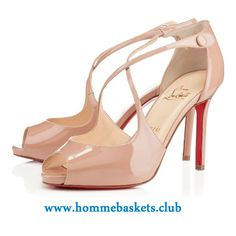 9bae85b9a05192 Christian Louboutin Femme Wrap Vernis 100 mm NUDE Automne/Hiver Chaussures  Officiel Canada,3130469PK1A