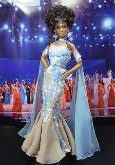 Miss United Arab Emirates 2008 Barbie Miss, Barbie And Ken, Chic Chic, Manequin, Diva Dolls, Black Barbie, Gowns Of Elegance, Vintage Barbie Dolls, Barbie Collection