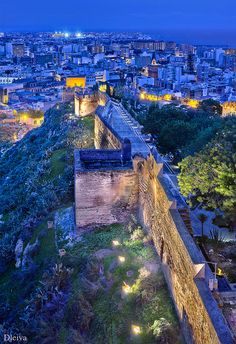 Muralla de la Alcazaba, Almeria, Spain, by Domingo Leiva.my home for 5 months Beautiful Places In The World, Places Around The World, Around The Worlds, Spain And Portugal, Spain Travel, Belle Photo, Wonders Of The World, Places To See, Scenery