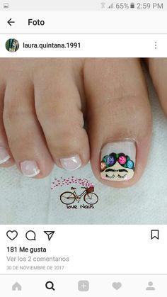 Pedicure Designs, Pedicure Nail Art, Toe Nail Art, Nail Art Designs, Toenails, Stylish Nails, Nail Tutorials, Beauty Nails, Make Up