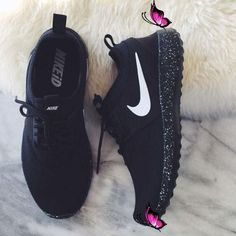 Nike Women Men Running Sport Casual Shoes Sneakers  Colorfulmeteors    fashion<br> Black Shoes Sneakers, Sneakers Outfit Men, Sneakers Fashion Outfits, Sneakers Mode, Black Running Shoes, Casual Shoes, Fashion Shoes, Sneakers Adidas, Dress Casual
