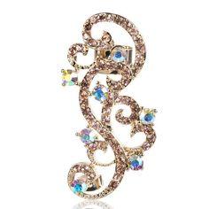 Cartilage Earring-Gold Cartilage Earring-Gold Unique Earrings-Gold Helix Earring-Ear Cuff-Wedding Earrings-Wedding Jewelry-Ear Wrap-Ear Pin by Trinketmart on Etsy