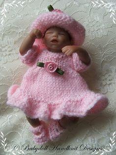 Frilled Verano Vestido 4-7 pulgadas muñecas-