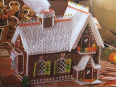 Gingerbread House Goody Holder Pattern for Plastic Canvas **PATTERN ONLY** | eBay