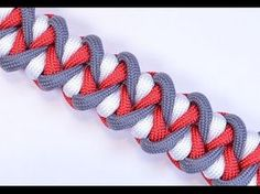 """Make the """"Wicked Twister"""" Paracord Survival Bracelet - BoredParacord! - YouTube Paracord Tutorial, Paracord Knots, 550 Paracord, How To Braid Paracord, Bracelet Tutorial, Paracord Bracelets, Paracord Braids, Para Cord, Paracord Projects"""