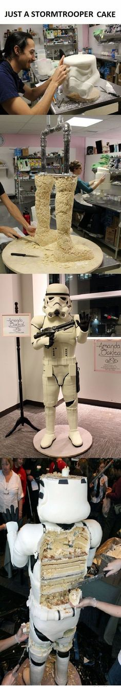 BRB, Jedi mind-tricking my body into burning calories with ease -- Stormtrooper cake wins the Internets via I Waste So Much Time
