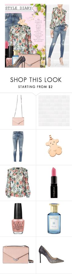 """""""Floral Summer Style"""" by gorgeautiful ❤ liked on Polyvore featuring Jimmy Choo, rag & bone, TOUS, Nicholas, Smashbox, OPI, Shay & Blue, StreetStyle, floral and floralprint"""