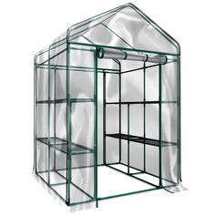 Amazon.com : Plant Large Walk in Greenhouse with Clear Cover - 12 Shelves Stands 3 Tiers Racks - Herb and Flower Garden Green House : Patio, Lawn & Garden | @giftryapp