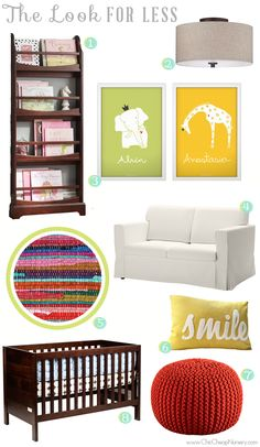 the look for less: a playful and neutral nursery