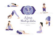 Ajna Chakra Yoga Postures by Sunnyfields on Kundalini Yoga, Yin Yoga, Chakra Meditation, Pranayama, Chakra Healing, Yoga Teacher Quotes, Yoga Quotes, 7 Chakras, Citations Yoga