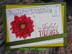 Carolyn's Card Creations: A Christmas Postcard