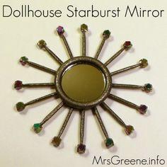 The AG Minis of SNICKERDOODLE STREET: HTM Starburst Mirror - Mid Century Modern