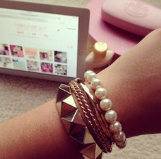 .I have that spiked bracelet :) I have two actually one silver one gold, super cute way to edge up any outfit