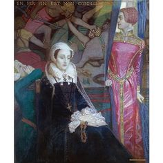 John McKirdy Duncan, R.S.A. , 1866-1945 Mary, Queen of Scots egg tempera on panel