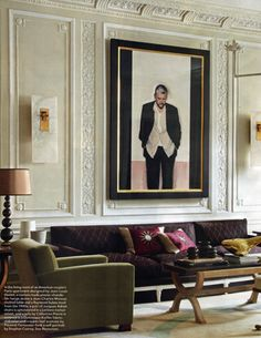 Paris Living Room, a combination of old & new - designed by Jean-Louis Deniot - Elle Decor, May 2011 Decoration Inspiration, Interior Design Inspiration, Design Ideas, Design Projects, Classic Interior, French Interior, Apartment Design, Parisian Apartment, French Apartment