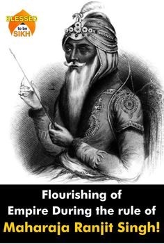 #BlessedToBeSikh Flourishing of Empire During the rule of Maharaja Ranjit Singh! Melvyn Bragg and guests discuss the rise of the Sikh Empire at the end of the 18th Century under Ranjit Singh, pictured above, who unified most of the Sikh kingdoms following the decline of the Mughal Empire. He became Maharaja of the Punjab at Lahore in 1801, capturing Amritsar the following year. His empire flourished until 1839, after which a decade of unrest ended with the British annexation.