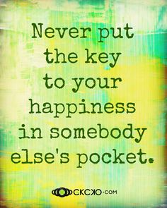 Key to your happiness…