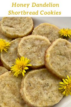 Shortbread cookies for a spring or summer day! Dandelions are a fun and unique addition to cookies and are a perfect introduction for foraging.